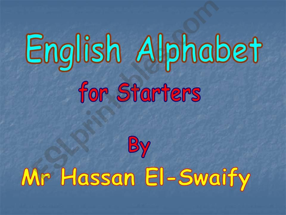 Alphabet [A-H] powerpoint